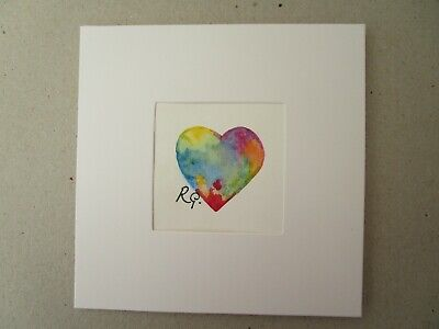 £2.80 • Buy Hand Painted Greeting Card LGBT Heart Anniversary Birthday.get Well.