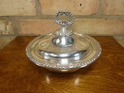 Nice Vintage Small Round Serving Tureen Entree Dish Silver Plated On Copper • 23.99£