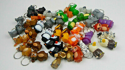 Fun Rubber Animal Keychains, 2 In A Pack, Variety Of Animals (Z027) • 2.75£