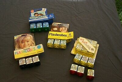 $18 • Buy Lot Of 21 Vintage Magic Cubes Flash Bulbs GE And Sylvania