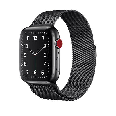 AU99 • Buy Apple Watch Series 3 42mm Space Grey Aluminium Case GPS + Cellular Milanese Loop
