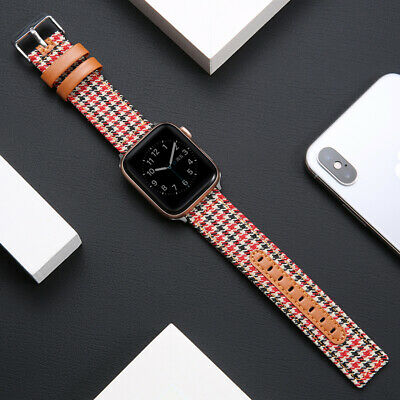 AU17.99 • Buy Nylon Leather Apple Watch Band Strap For IWatch Series SE 6 5 4 3 2 38/40 42/44