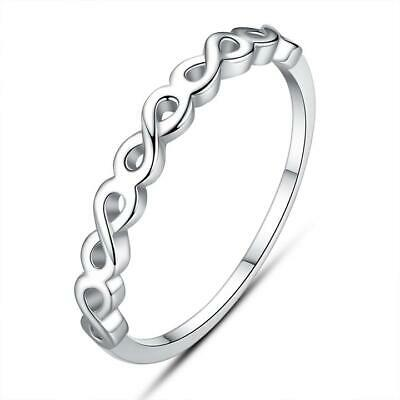 AU23.95 • Buy Simple Infinity S925 Sterling Silver Ring By Pandora's Kings NEW
