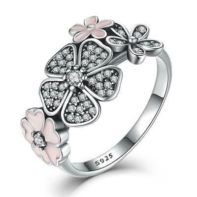 AU29.50 • Buy Daisy Statement S925 Sterling Silver Ring By Pandora's Kings NEW