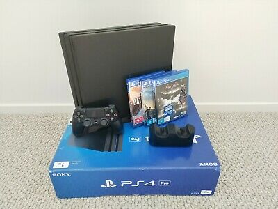 AU419 • Buy PlayStation PS4 Pro Upgraded 2TB HDD With 3 Games, Controller, Dock, And Stands