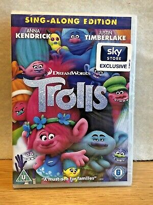 New, Sealed Dreamworks TROLLS DVD - Sing-along Edition - Sky Store Exclusive   • 3.25£