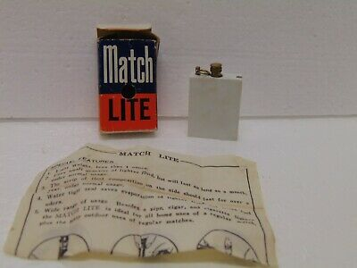 £8.68 • Buy Vintage  Match Lite  Lighter #1122 In Box Made In Hong Kong 1 1/2  X 1