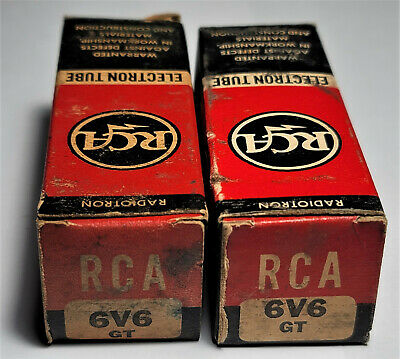 AU228.81 • Buy 6v6gt Rca Vintage Tubes Smoked Glass Matched Pair Nos Nib (1951) *curve Tracer*