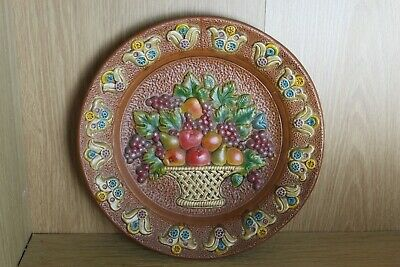 Spanish Terracotta Studio Pottery Wall Hanging Plate • 6.99£
