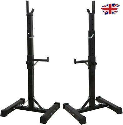 $ CDN254.22 • Buy Heavy Duty Adjustable Gym Squat Rack Barbell Power Stand Weight Bench Support UK