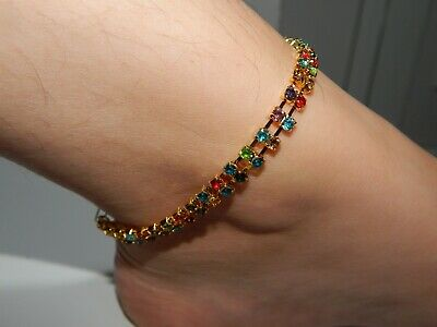 £10 • Buy Gold Indian Bell Charm Ankle Bracelet Anklet Foot Chain Ghungroo Payal Pajeeb