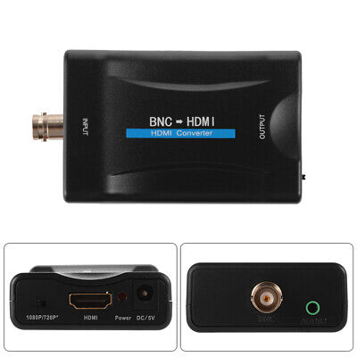 £9.88 • Buy 1080P/720P BNC To HDMI Video Adapter Converter For Camera/CCTV/Game Console/TV S