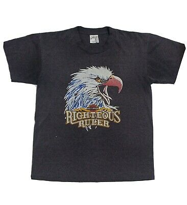 $ CDN55 • Buy Vintage Harley Davidson Motorcycles Righteous Ruler American Eagle Large T-Shirt