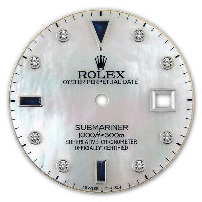 $ CDN347.30 • Buy Customized Submariner-40mm Ss White Mop Serti Sapphire Diamond Dial For Rolex