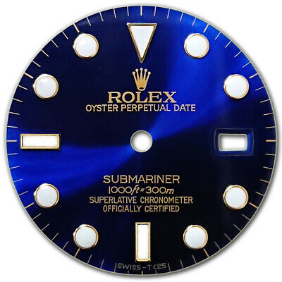 $ CDN227.32 • Buy Customized Submariner-40mm 2tone Blue Big Luminous Dial For Rolex