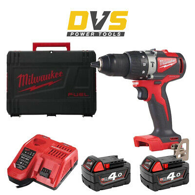 Milwaukee M18BLPD2-402X Cordless M18 Brushless Percussion Drill & Accessories • 244.95£