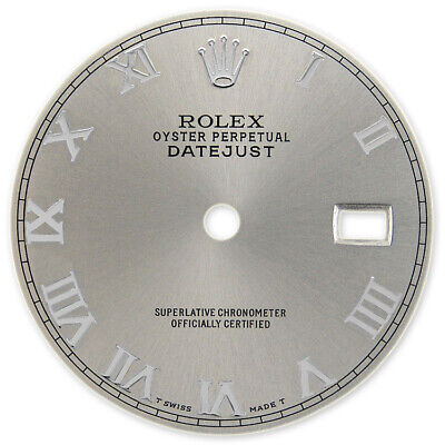 $ CDN152.83 • Buy Refined Mens Ss Datejust Metallic Slate Grey Roman Numeral Dial For Rolex-36