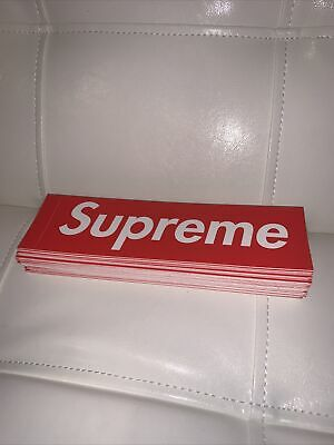 $ CDN125.32 • Buy Lot Of 77 Genuine Supreme Red Box Logo Drop Stickers 100% Authentic