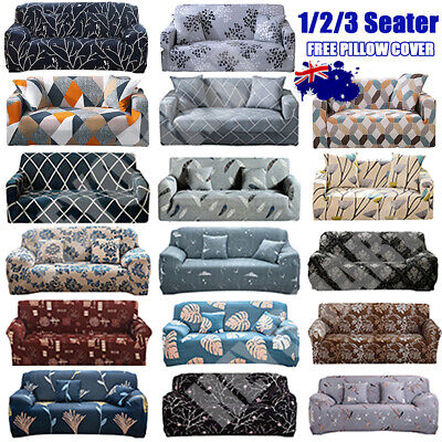 AU25.13 • Buy EASY Stretch Couch Sofa Lounge Covers Recliner 1 2 3 Seater Dining Chair Cover