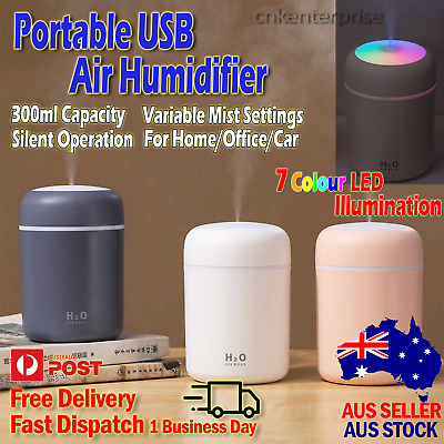 AU14.24 • Buy USB Air Humidifier Ultrasonic Aroma Essential Diffuser Cool Mist For Home Car AU