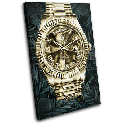 £19.99 • Buy Gold Watch Money Luxury Vintage SINGLE CANVAS WALL ART Picture Print