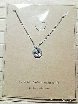 £3.99 • Buy Baby Feet Silver Plated Necklace Pregnancy Congratulations Mum Gift Present Card
