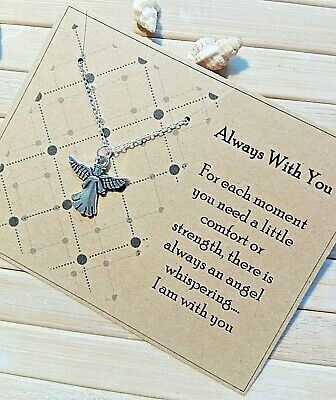 £3.99 • Buy Always With You Sympathy Bereavement Gift Card Guardian Angel Necklace Memories
