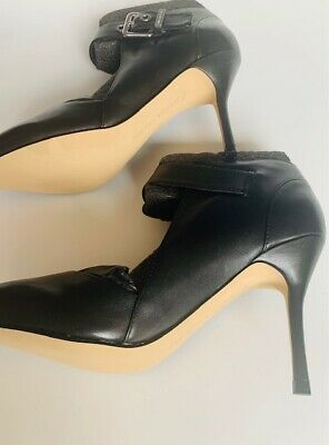 $ CDN37.48 • Buy Ivanka Trump Black Leather Shoes 5.5 M US High Heels With Strap