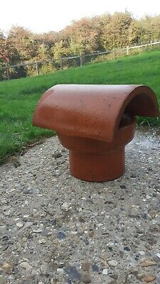 Terracotta Clay Chimney Pot With Cap • 12£
