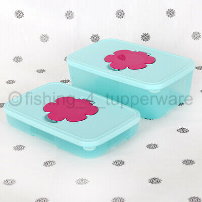 AU20 • Buy NEW Tupperware Wipes Tissue Dispenser Slimline Or Large Blue And PInk