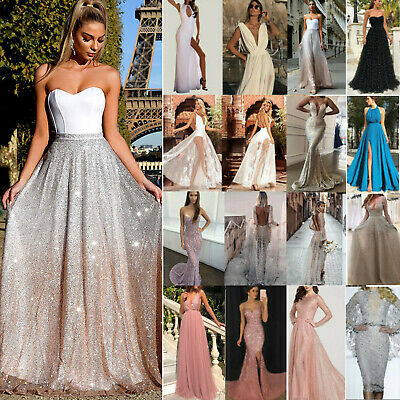 AU28.19 • Buy Womens Ball Gowns Dress Formal Wedding Cocktail Evening Party Bridesmaid Dresses