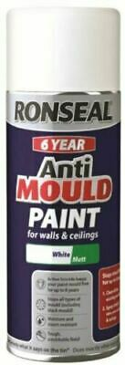 Ronseal 400ml Matt White 6-Year Anti-Mould Aerosol Spray Can  • 13.49£