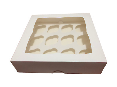AU18 • Buy Cake Boxes 1/2/4/6/12/24 Holes Window Face Cupcake Boxes Boards Wedding Favours