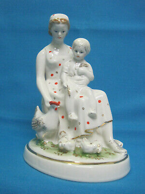 $ CDN200.17 • Buy Porcelain Figurine. Mom And Child. Statuette. The USSR.