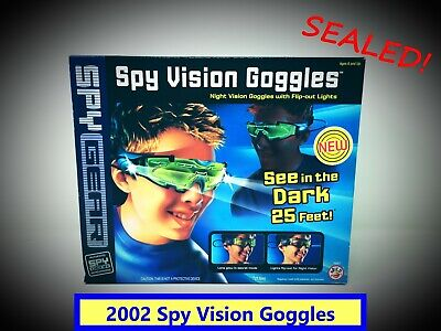 🥽 2002 Spy Gear Spy Vision Goggles By Wild Planet Toys No. 70057 SEALED! 🥽 • 17.73£