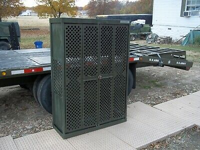 $555 • Buy Military Surplus Space Saver  Weapons  Rifle Pistol Rack Cabinet  Safe Gun Army