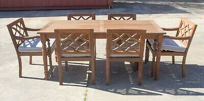 AU1799 • Buy Claire - 7 Piece Outdoor Setting - Solid Eucalyptus Timber - With 1800mm Table