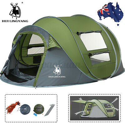 AU97.99 • Buy 5-8 Person Instant Pop Up Tent Family Waterproof Dome Hiking Beach Camping Tent