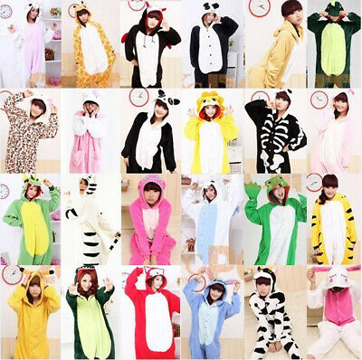 AU21.58 • Buy 2021 Unisex Adult Flannel Pajamas Kigurumi Cosplay Costume Animal Sleepwear Suit