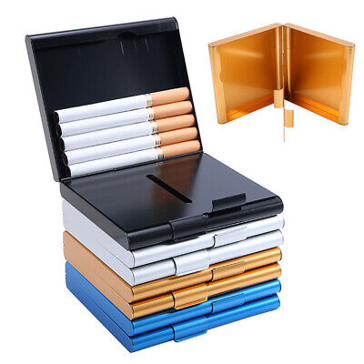 Aluminum Cigarette Case Tobacco Box Container Holder Storage For 20 Cigarettes • 5.77£