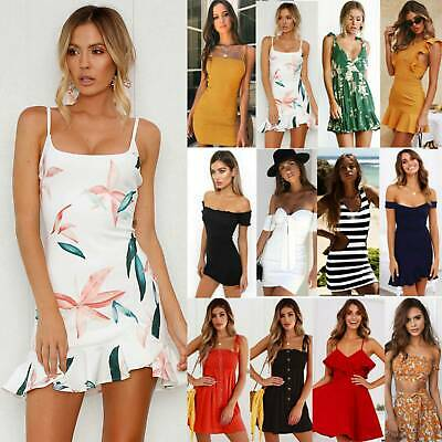 AU16.81 • Buy Womens Ladies Summer Mini Dress Party Cocktail Holiday Beach Dresses Sundress