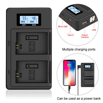 $ CDN33 • Buy Usb Battery Charger For Sony Np-Fw50 A7R Nex A7Ii A6500 Ilce-7S Ilce-7Sm2 A55