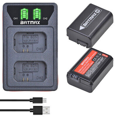 $ CDN65.16 • Buy Set Usb Battery Charger +2 Batteries For Sony Np-Fw50 A6500 A6400 7R A7Ii Nex-3