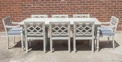 AU1999 • Buy Marie - 9 Piece Outdoor Setting - Solid Eucalyptus Timber - With 2100mm Table