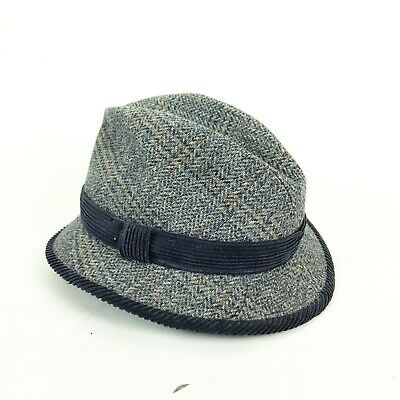£22.94 • Buy Olney Mens Pure Wool Tweed Check Country Trilby Hat 58 Cm 7 1/8