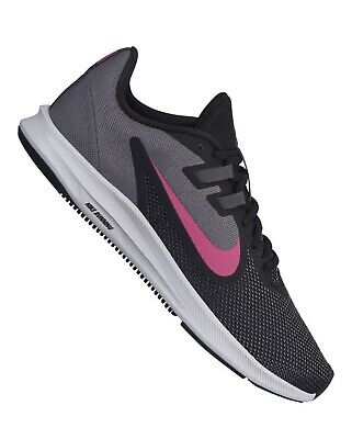 Nike Downshifter 9 Trainers New UK 5.5 Black Pink Running Gym Sports Shoes • 36.90£