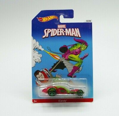 Hot Wheels Marvel Spider-Man ICandy 1:64 2013 New Free Shipping • 8.05£