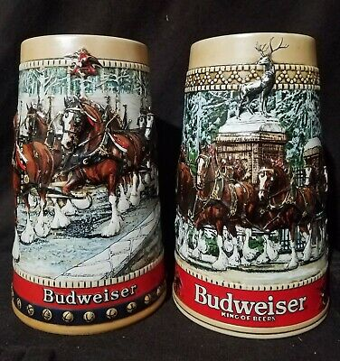 $ CDN71.27 • Buy 2 Budweiser Holiday Beer Steins: 1988 Collectors Series And 1987  C  Series