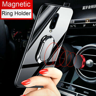 AU7.50 • Buy Hybrid Case For OnePlus 8 7T 7 Pro 6T 5T Slim Ring Stand Holder Glass Back Cover