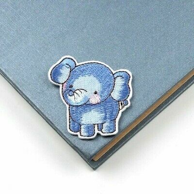 Baby Elephant Iron On Badge Sew On Patch Embroidered Applique X 1 Pcs Blue • 1.99£